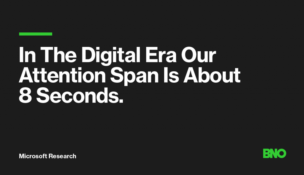 Attention span in the digital era.