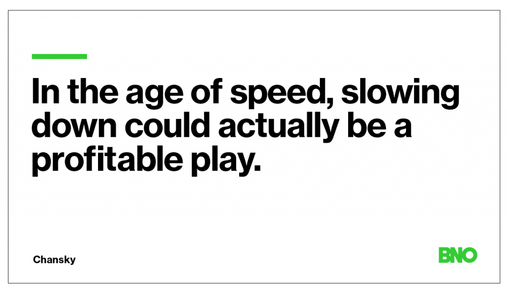The age of speed.